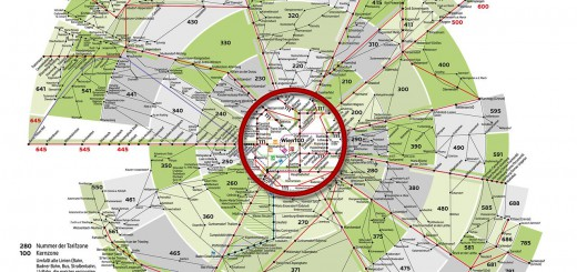Kernzone 100 Tarifzonenplan des VOR