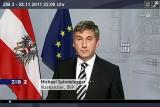 Außenminister und Vizekanzler Michael Spindelegger in der ZIB2