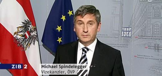 Aussenminister und Vizekanzler Michael Spindelegger in der ZIB2