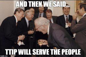 """TTIP will serve the people."" Keine Pointe."