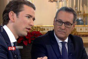 Sebastian Kurz und HC Strache beim ORF-Antrittsinterview (Quelle: orf.at)